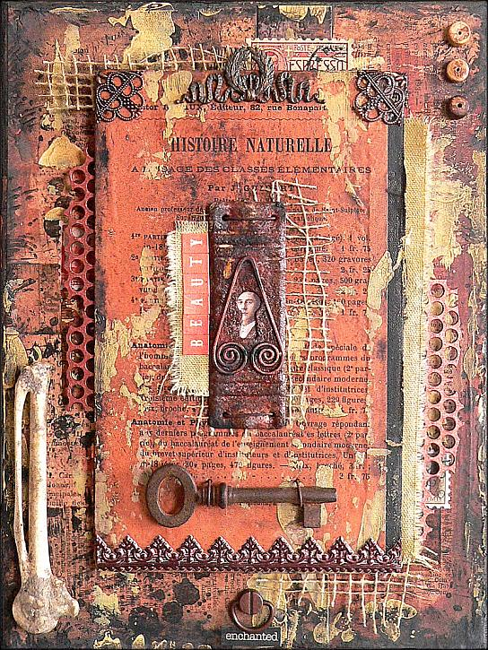Skeleton Key - Mixed Media Assemblage