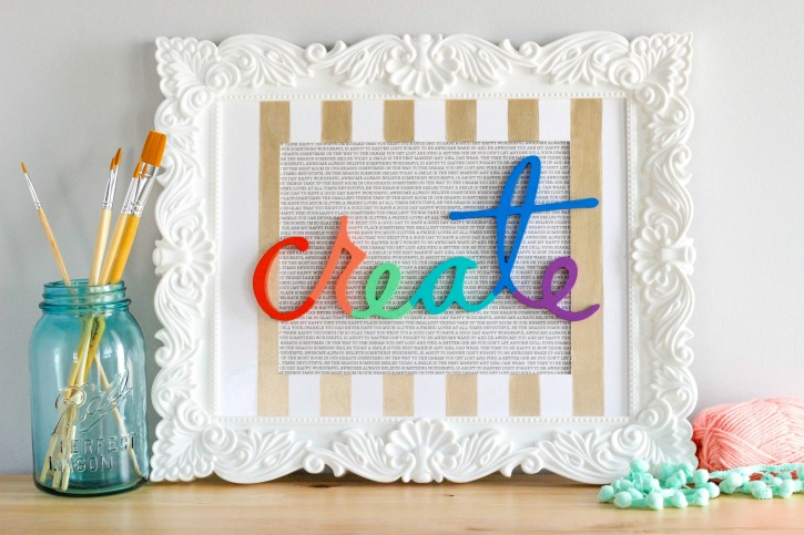 Decoart Blog Crafts Diy Colorful Create Sign