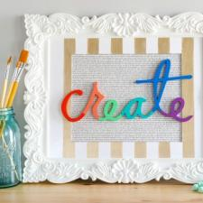 DIY Colorful Create Sign