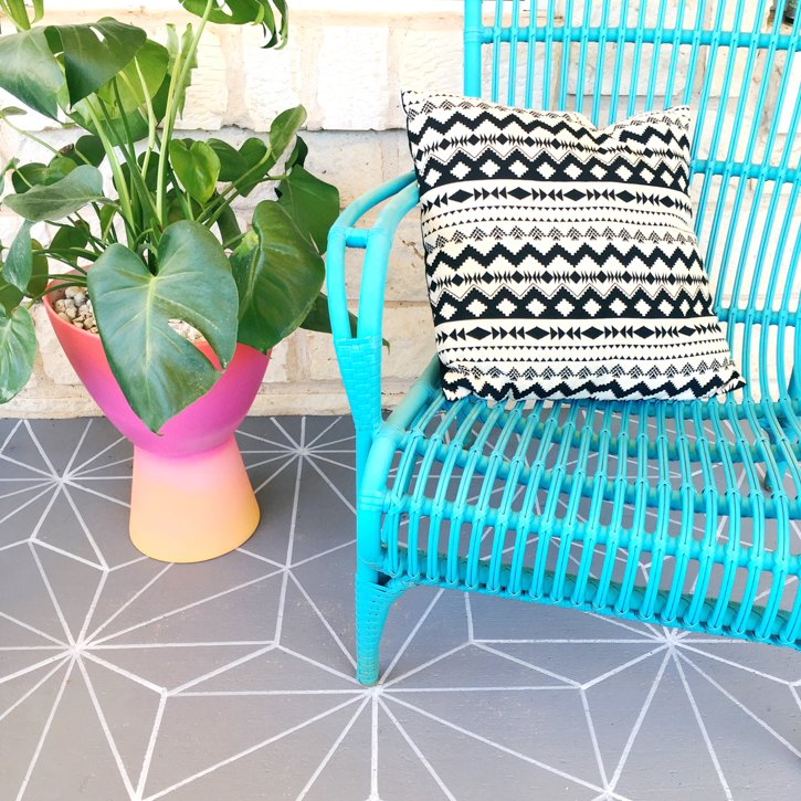DIY Faux Patio Tile