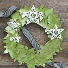 Paper Wreath with Metallic Accents