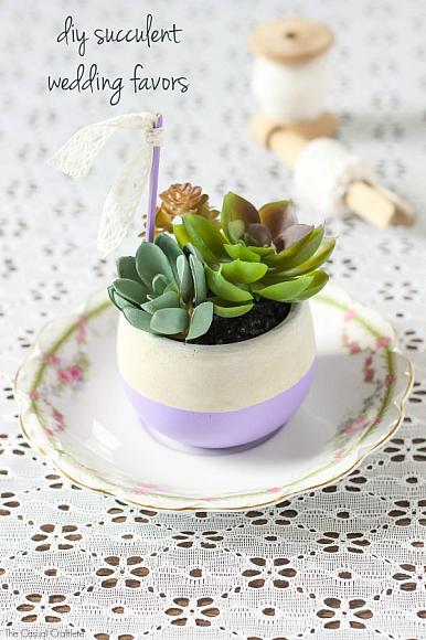 DecoArt Blog - Crafts - DIY Succulent Wedding Favors