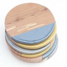 Metallic Dipped Wooden Coasters
