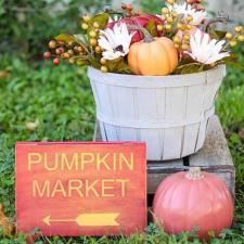 Pumpkin Market Sign and Basket