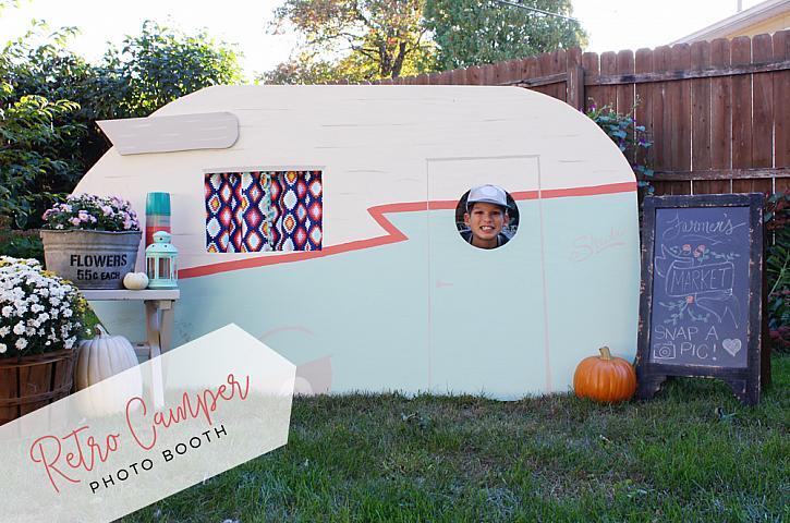 DIY Retro Camper Photo Booth