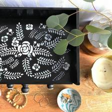 Faux Bone Inlay Jewelry Box by Jennifer Rizzo