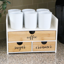 DIY Coffee Organization Station