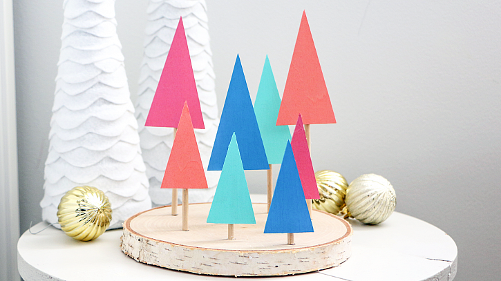 DIY Modern Christmas Forest Décor