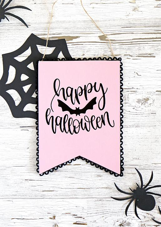 DIY Pastel Halloween Sign with Americana   Pearls