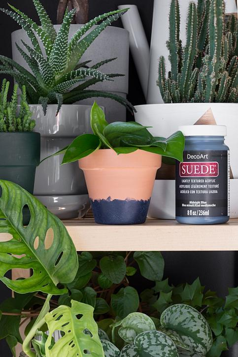 Suede-Finish Terracotta Pot