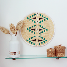 DIY Faux African Basket Wall Art