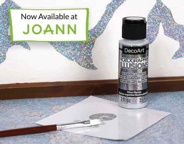 A picture of DecoArt Holographic Illusions paint in silver