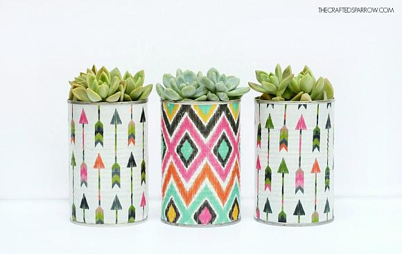 Instruction #9 - Decoupaged Tin Can Planters 6