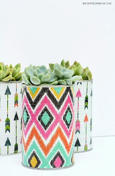 Instruction #8 - Decoupaged Tin Can Planters 8
