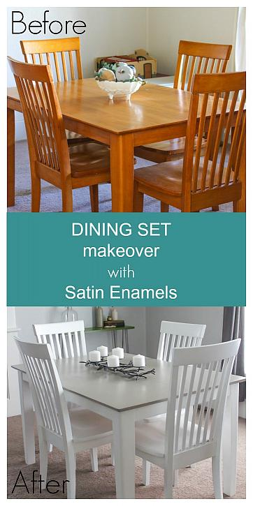 Decoart Blog Diy Dining Set Makeover With Satin Enamels