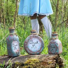 Alice in Wonderland Potions with Tags