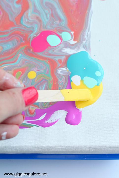 Instruction #9 - Dripping Paint Acrylic Paint Pouring