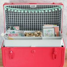 Repurposed Vintage Suitcase