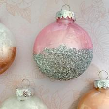 Rose Gold Ornaments by Happily Ever After