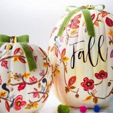 Hand Painted Fall Pumpkin