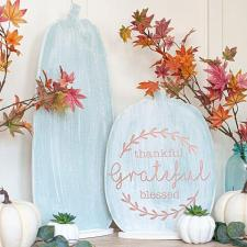 Thanksgiving and Halloween Reversible Sign