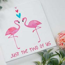 DIY Flamingo Wall Art