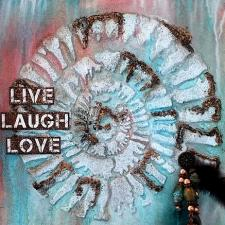 Live Laugh Love Fossil Canvas