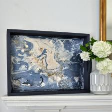 Geode-Inspired Decorative Tray