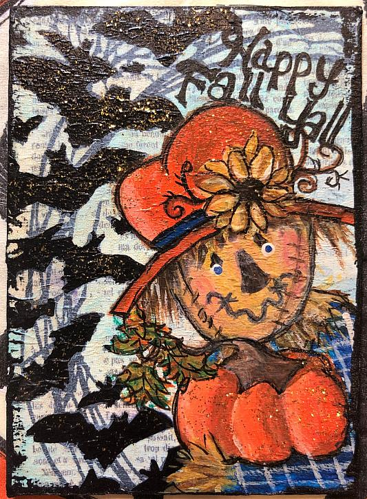 Happy Fall Y all  Scarecrow ATC