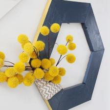 Geometric Wood Wreath