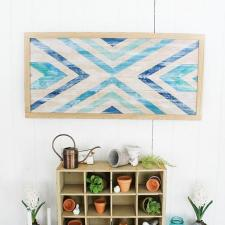 DIY Geometric Wall Art by Jaclyn Erickson