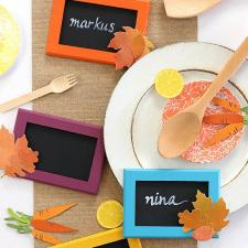 Chalkboard Style Thanksgiving Placecards