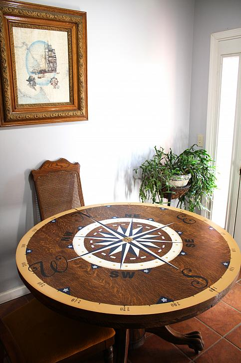 Honoring a Father with a Nautical Table Makeover