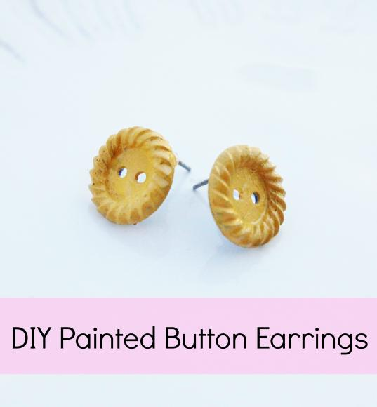 Upcycle Buttons into Earrings