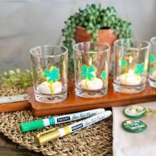 Shamrock Votive Table Centerpiece