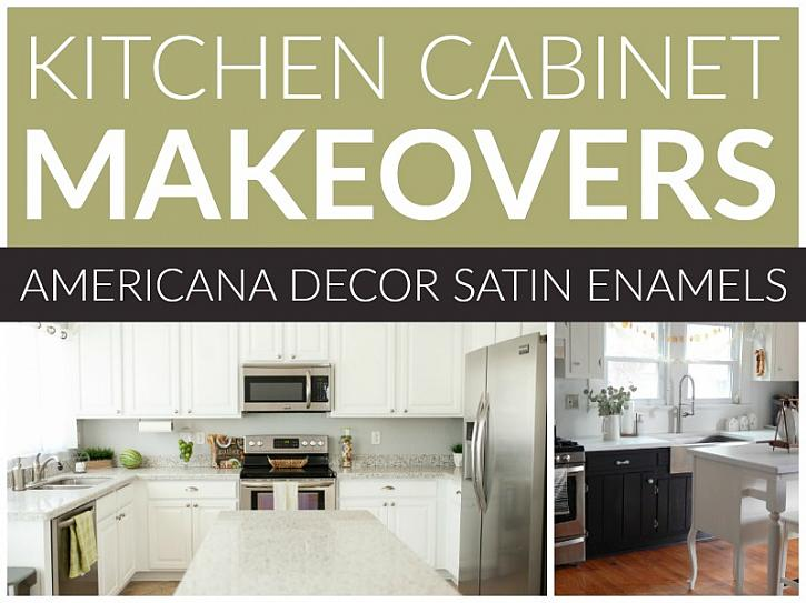Kitchen Cabinet Makeovers: Satin Enamels