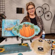 Festive Fall Pumpkin with Sandy McTier