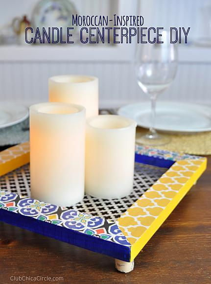 Moroccan Inspired Candle Centerpiece