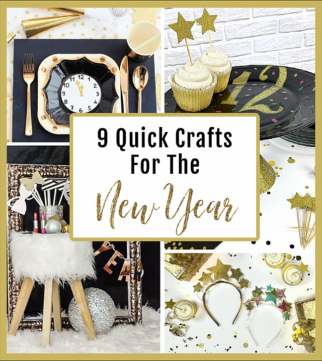 9 Quick Crafts For New Year's Eve 2020
