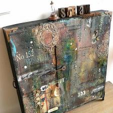 Grungy Pizza Box Canvas