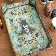 Trash to Treasure | Upcycled Mixed Media Tray