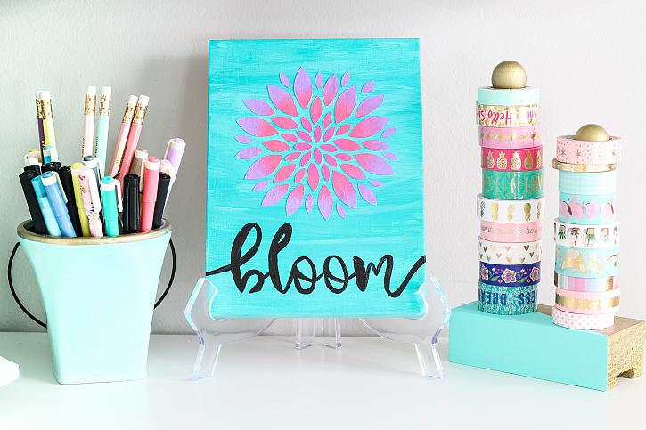 Simple Stenciled Canvas Wall Art