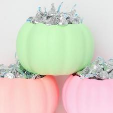 Neon Pastel Pumpkin Candy Dishes
