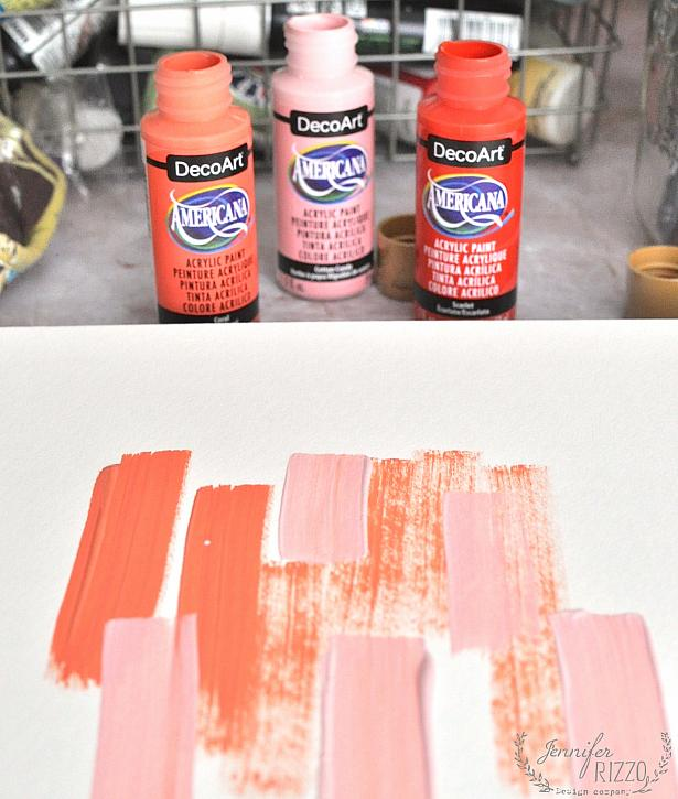 Instruction #4 - Paint stripes with Decoart paint