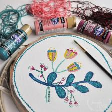 Punch Needle Embroidery Painting by Jennifer Rizzo
