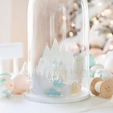 Christmas Village Cloche | Craftberry Bush