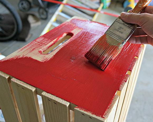 Instruction #1 - Patriotic Crate painting