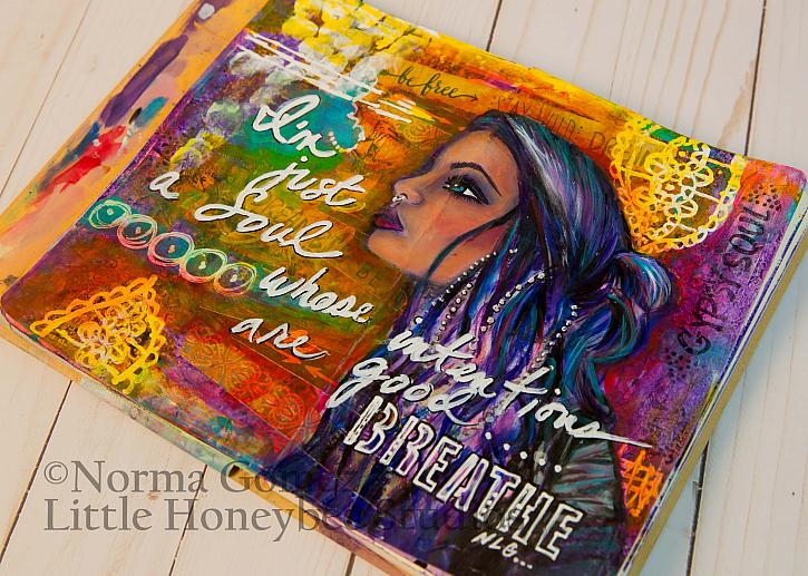 Good Intentions Art Journal Spread