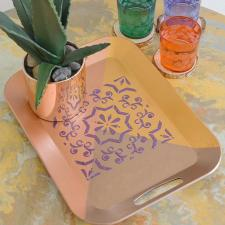 Textured Decorative Tray by Anam Zohaib