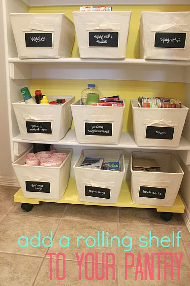 DIY Pantry Rolling Shelf
